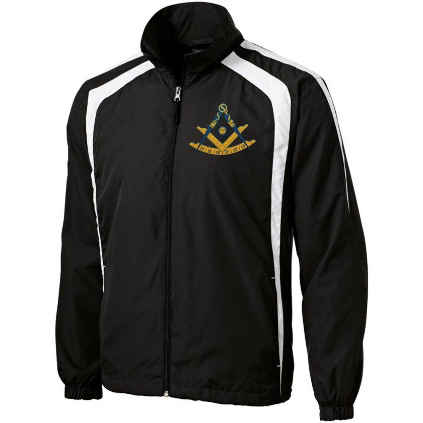 Past master black white unhooded jacket
