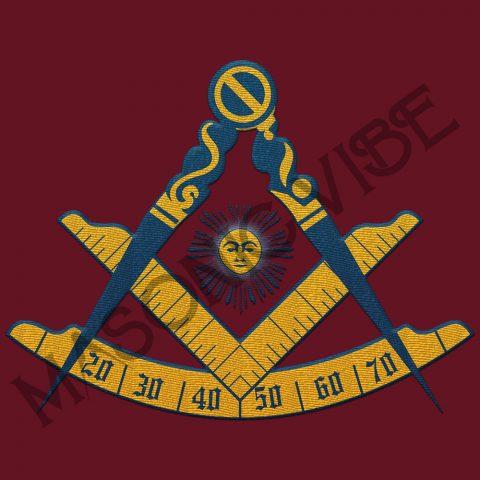 Past Master Embroidery Masonic Jacket 1 Past master maroon