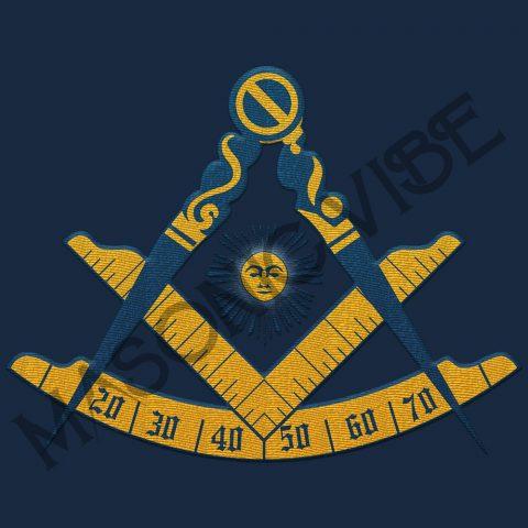 Past Master Embroidery Masonic Jacket 1 Past master navy