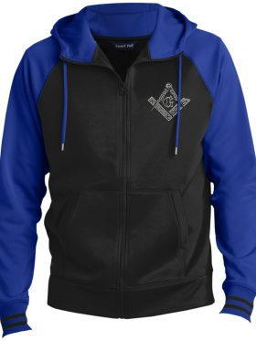 Square & Compass Hooded Masonic Jacket