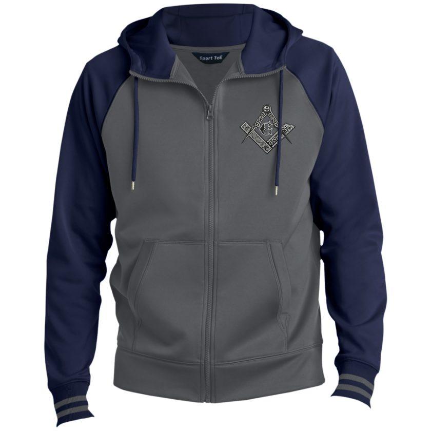Square & Compass Hooded Masonic Jacket