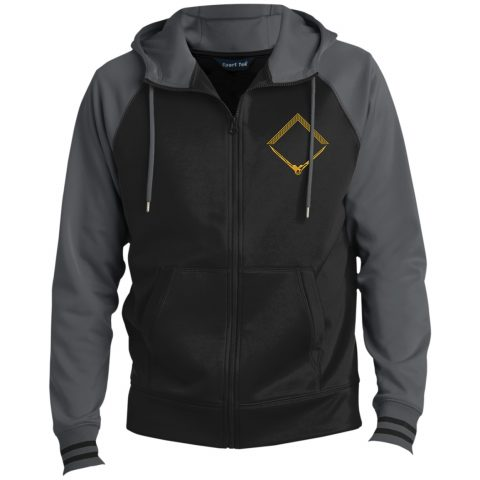 Square and Compass Hooded Masonic Jacket