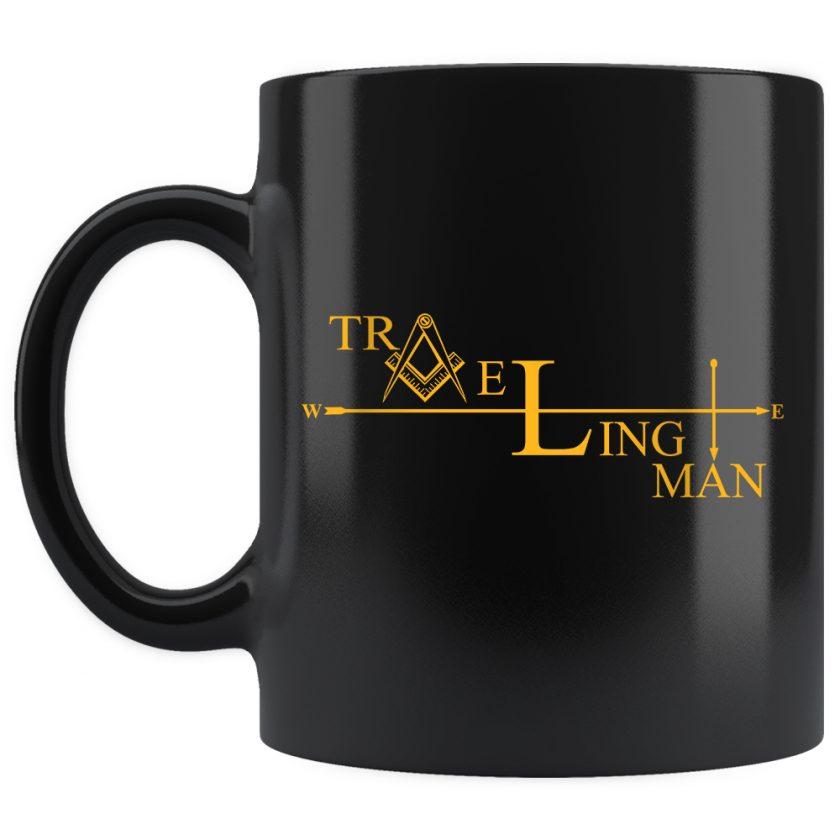 Traveling Man Masonic Mug 11oz