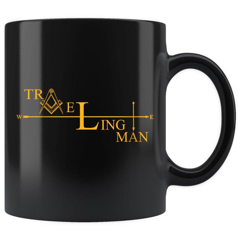 Traveling Man Masonic Mug