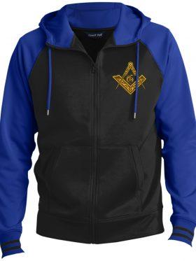 Vintage Masonic Emblem Hooded Jacket