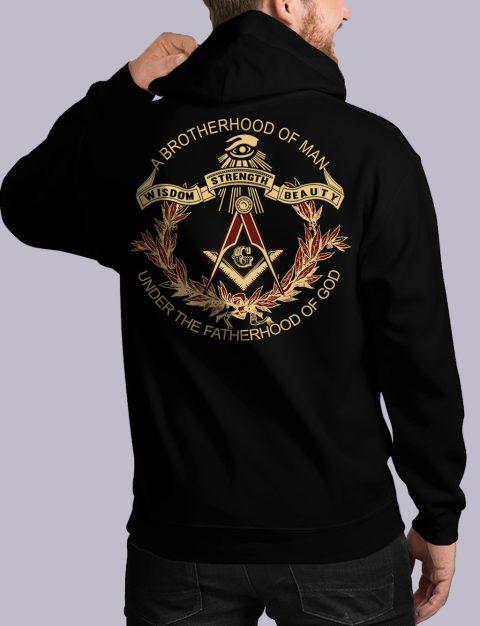 A Brotherhood Of Man Freemason Hoodie bros of man 3 back black hoodie 1