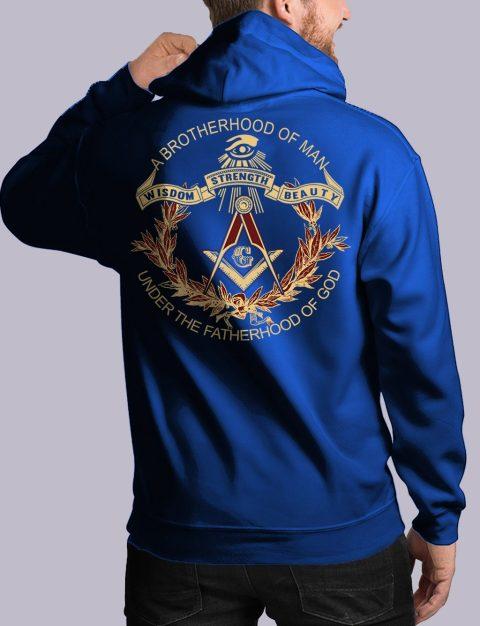 A Brotherhood Of Man Freemason Hoodie bros of man 3 back royal hoodie