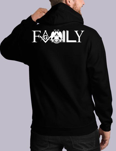 Family Freemason Masonic Hoodie family back black hoodie 1