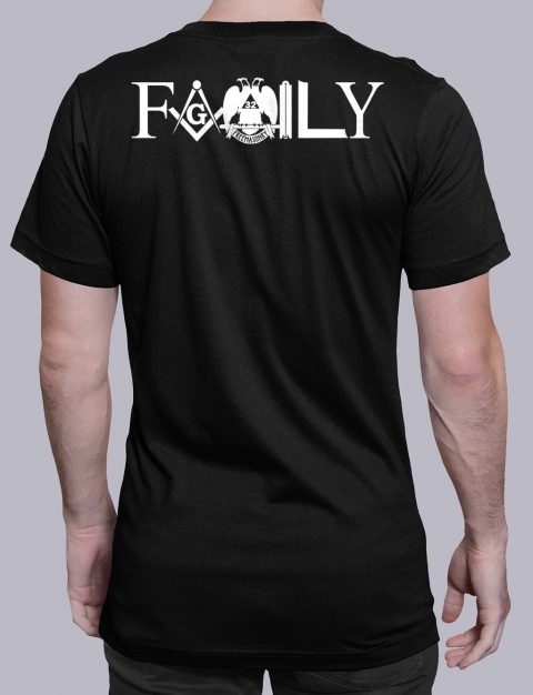 Family Masonic T-shirt family back black shirt back 4
