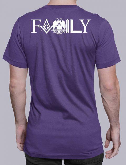 Family Masonic T-shirt family back purple shirt back 4
