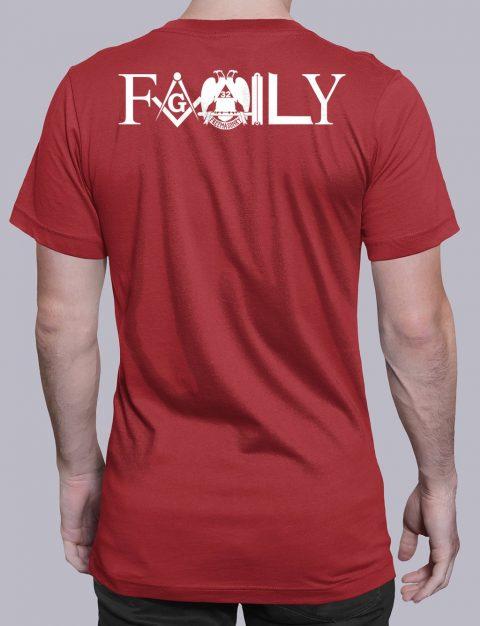 Family Masonic T-shirt family back red shirt back 4