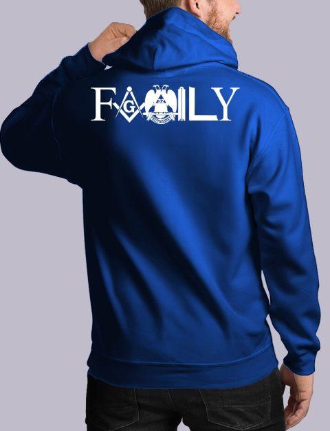 Family Freemason Masonic Hoodie family back royal hoodie