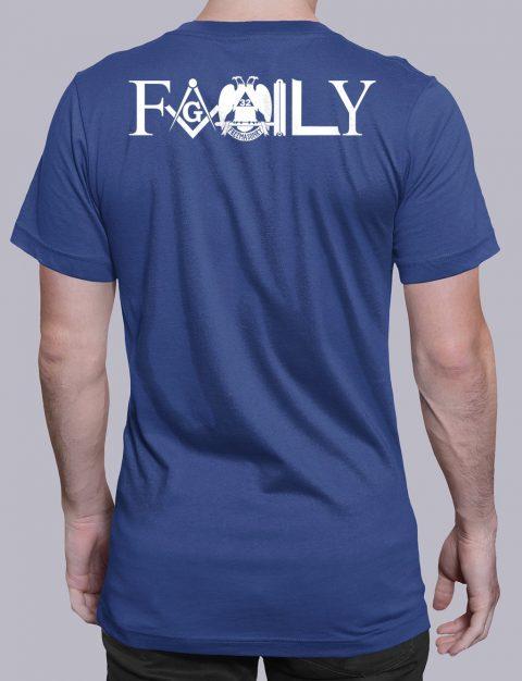 Family Masonic T-shirt family back royal shirt back 4
