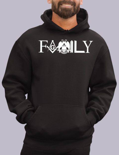 Family Masonic Masonic Hoodie family front black hoodie