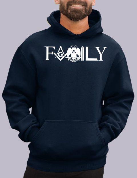Family Masonic Masonic Hoodie family front navy hoodie