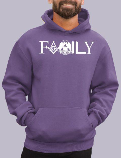 Family Masonic Masonic Hoodie family front purple hoodie