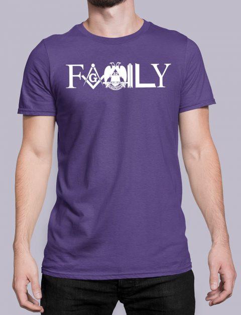 Family Freemason T-shirt family front purple shirt 10
