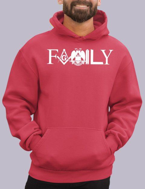 Family Masonic Masonic Hoodie family front red hoodie