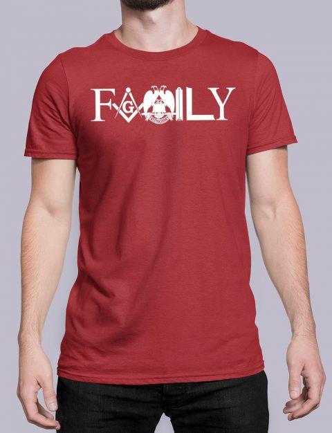 Family Freemason T-shirt family front red shirt 10