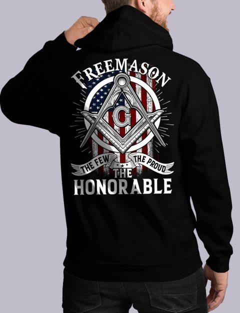 The Honorable Masonic Hoodie honorable back black hoodie 1