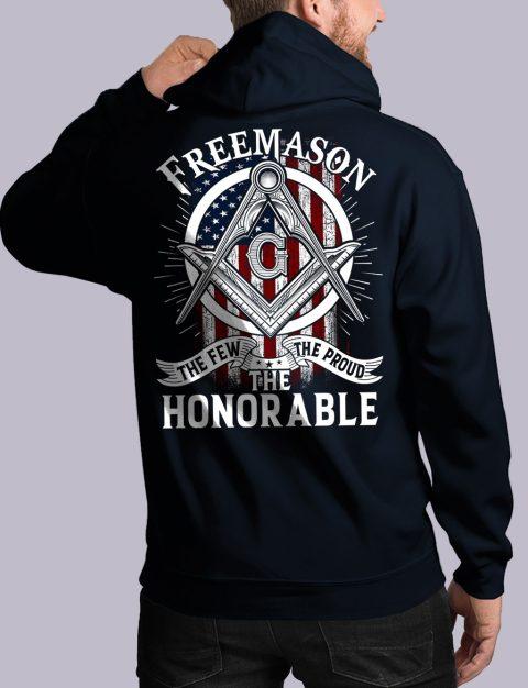 The Honorable Masonic Hoodie honorable back navy hoodie
