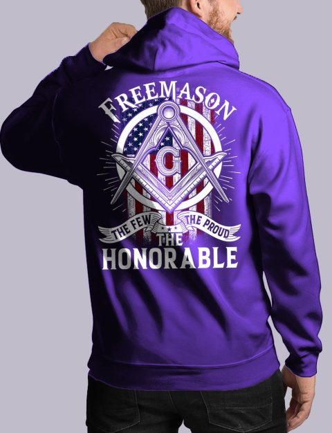 The Honorable Masonic Hoodie honorable back purple hoodie