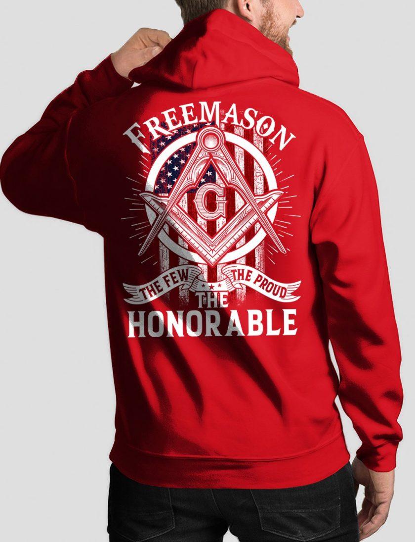 honorable back red hoodie