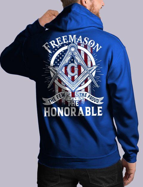 The Honorable Masonic Hoodie honorable back royal hoodie