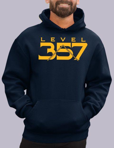Level 357 Masonic Hoodie lv 357 navy hoodie