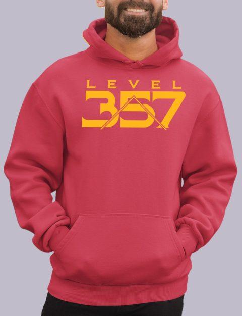 Level 357 Masonic Hoodie lv 357 red hoodie