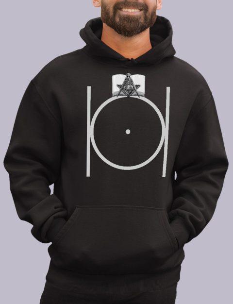 Masonic Hoodie with Bible masonic 3 black hoodie