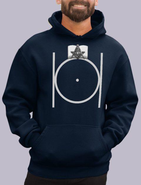 Masonic Hoodie with Bible masonic 3 navy hoodie