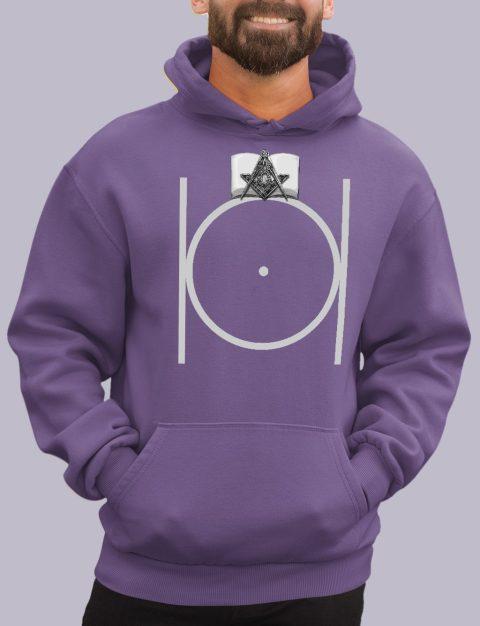Masonic Hoodie with Bible masonic 3 purple hoodie