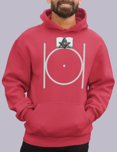 Masonic Hoodie with Bible masonic 3 red hoodie