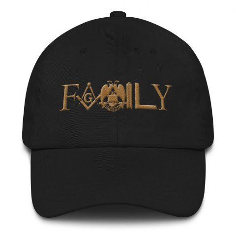 Old Gold FAMILY Masonic Hat mockup bf06a1f8