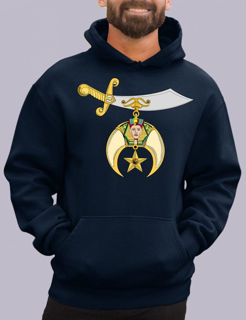 shrines navy hoodie