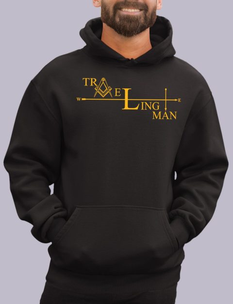 Traveling Man Masonic Hoodie traveling man black hoodie