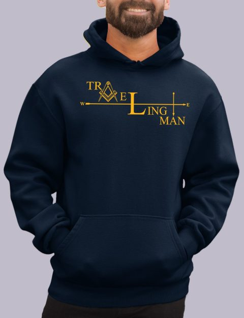 Traveling Man Masonic Hoodie traveling man navy hoodie