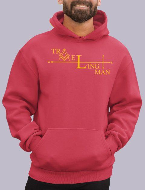 Traveling Man Masonic Hoodie traveling man red hoodie