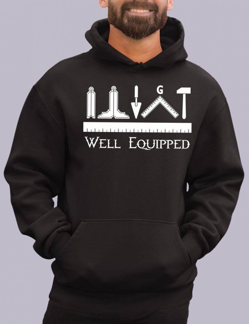 well e black hoodie