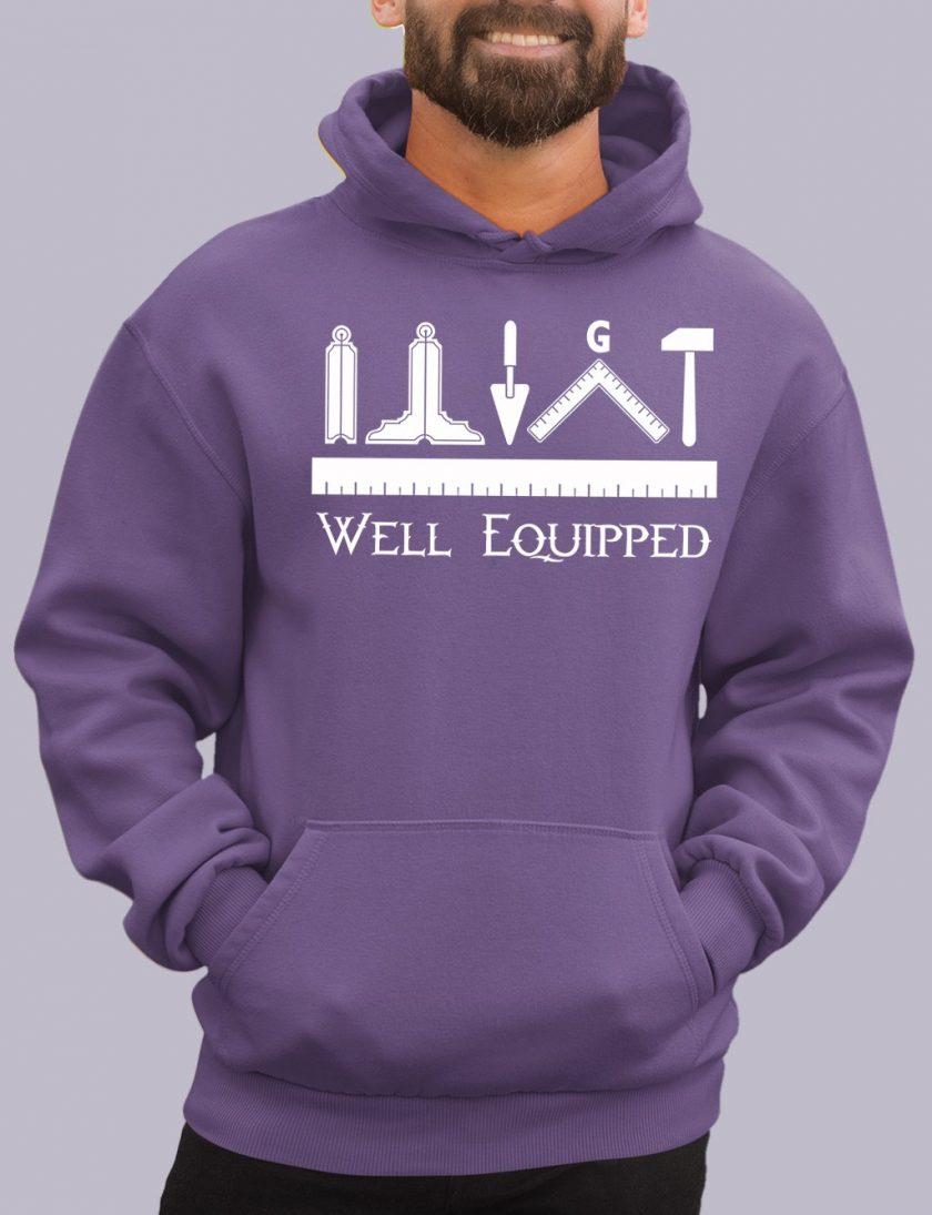 well e purple hoodie