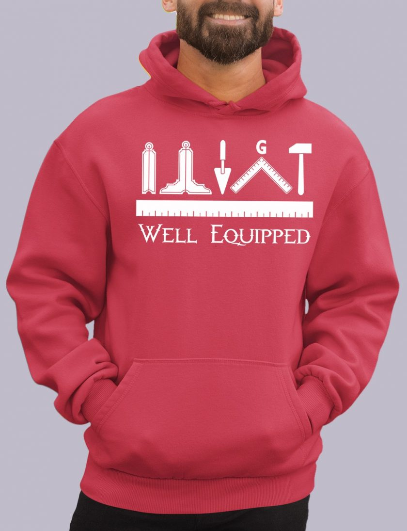 well e red hoodie