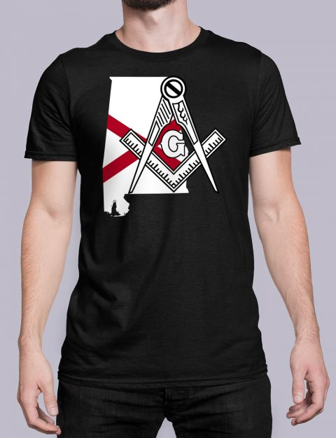 Alabama Masonic Tee Alabama black shirt