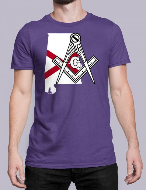 Alabama Masonic Tee Alabama purple shirt