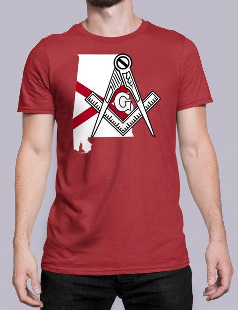 Alabama Masonic Tee Alabama red shirt
