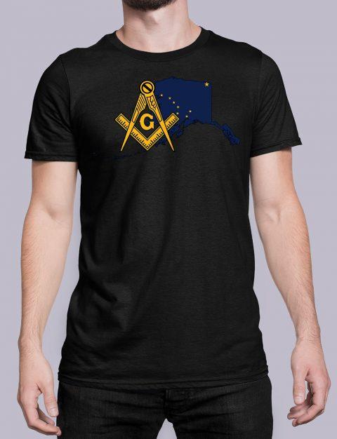 Alaska Masonic Tee Alaska black shirt