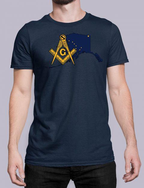 Alaska Masonic Tee Alaska navy shirt
