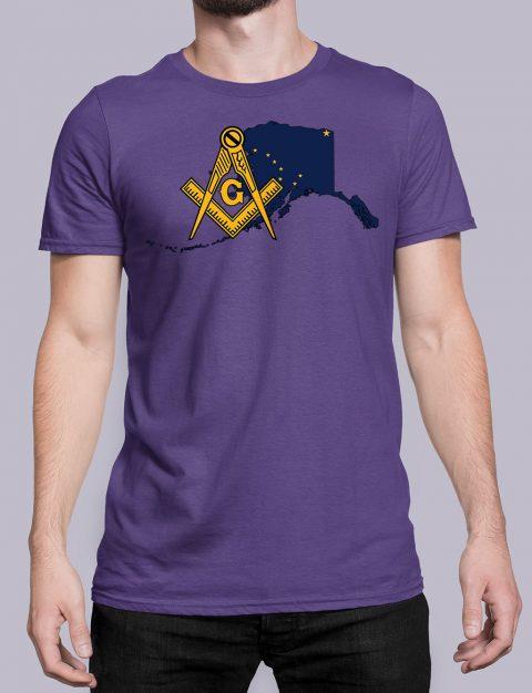 Alaska Masonic Tee Alaska purple shirt