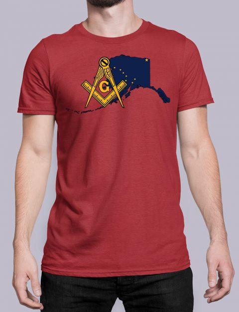 Alaska Masonic Tee Alaska red shirt