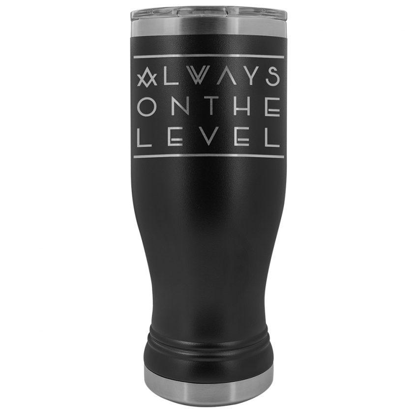 Always On The Level Masonic BOHO 20oz Tumbler Always On The Level Masonic BOHO 20oz Tumbler Black